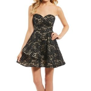 B. Darlin Strapless Fit And Flare Dress - Size 7